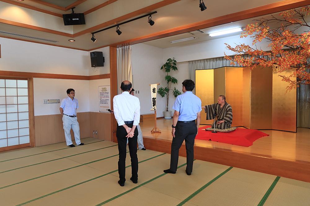 昭和村秋祭り視察,桂歌助師匠